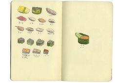 Sushi sketch book