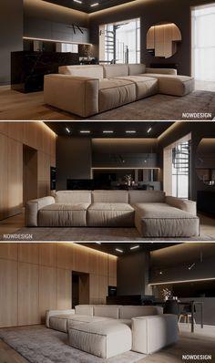Living Room Sofa Design, Home Room Design, Home Living Room, Interior Design Living Room, Living Room Designs, House Design, Apartment Interior, Apartment Design, Muebles Home