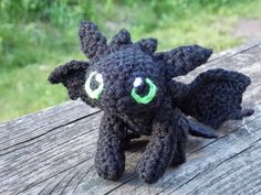 Toothless Dragon Amigurumi Pattern : Toothless dragon free crochet pattern with plenty of photos by