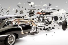 Amazing Exploded Views of Classic Sports Cars