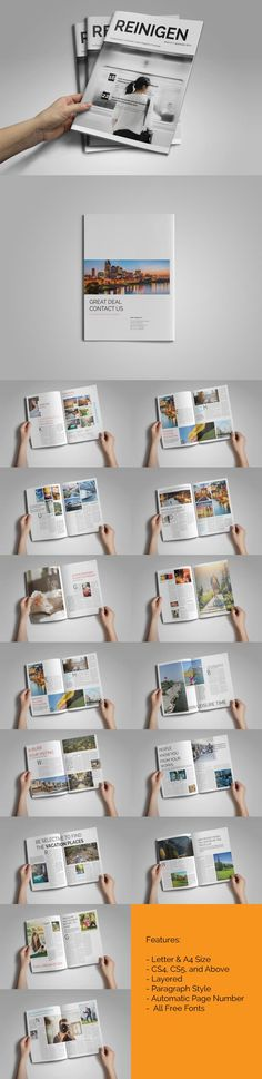 #magazine #design from Dr. Print | DOWNLOAD: https://creativemarket.com/dr.print/358674-Minimal-Magazine-Template?u=zsoltczigler