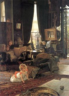 Hide And Seek, by James Tissot (1836 – 1902, French)