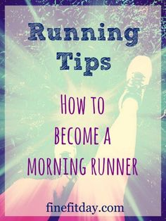 Running Tips - How to Become a Morning Runner. Even if you're a night owl, it's possible to become one of those people who runs early. Check out these 4 tips for getting your morning workout done before your body has a chance to realize it's doing exercise.   runchat   healthy habits   fitness motivation  