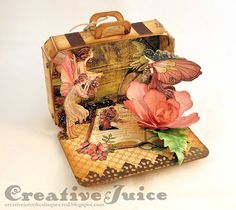 Lisa Hoel – Eileen Hull's Suitcase Die by Sizzix and Graphic 45