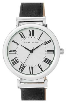 Anne Klein Leather Strap Watch, 38mm available at #Nordstrom