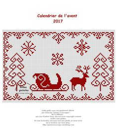 Reindeer and sleigh Cross Stitch Love, Cross Stitch Cards, Cross Stitch Alphabet, Cross Stitching, Cross Stitch Embroidery, Cross Stitch Patterns, Cross Stitch Christmas Ornaments, Christmas Embroidery, Christmas Cross