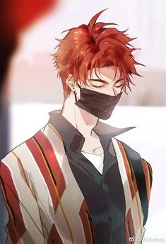 Anime guy [☁ save_by_dibeo :)) ] - my pintetest: lâm cẩm duyên Hot Anime Boy, Anime Sexy, Red Hair Anime Guy, Red Hair Boy, Cool Anime Guys, Anime Sensual, Handsome Anime Guys, Anime Oc, Anime Manga