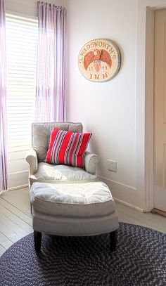 Out of sight and out of smell bedroom/sitting room Bedroom Sitting Room, Bedroom Couch, Cozy Bedroom, Comfy Reading Chair, Cozy Chair, Reading Chairs, Mixed Dining Chairs, Bedroom Decor Dark, Bedroom Ideas