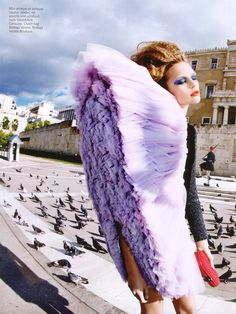 City fashion, Viktor and  Rolf fabric manipulation ruffle garment