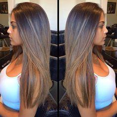 G – – – Brunette HairStyles Brown Hair Balayage, Balayage Brunette, Hair Color Balayage, Brunette Hair, Hair Highlights, Light Brown Hair, Light Hair, Honey Blonde Hair, Gorgeous Hair Color