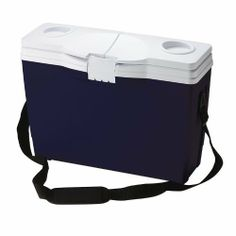 Rubbermaid 14 Can Briefcase Cooler, Blue by Rubbermaid. $23.79. Tightly-sealing hinged, split-lid with convenient cup holders on top provides easy access to food and beverage. Unique, slim size is designed to fit in small spaces and is perfect for travel. Superior thermal retention keeps food and beverages cold. Padded shoulder strap for easy carrying without hands. Stain and odor resistant, easy-to-clean liner. The Rubbermaid FG156004MODBL 14 Can Briefcase Coo...