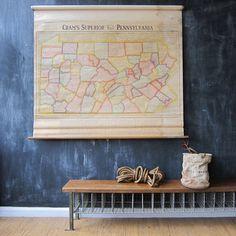 Map Of Pennsylvania  by Three Potato Four