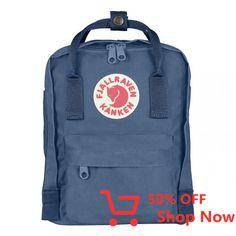 Kids Fjallraven Kanken Mini Backpack - UN Blue on Garmentory Little Backpacks, Kids Backpacks, Small Backpack, Mini Backpack, Fjallraven Kanken Mini, Fjällräven Kanken, Backpack Online, Hard Wear, Everyday Bag