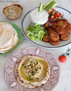 Food for thought: Baba Ganoush/ Λιβανέζικη μελιτζανοσαλάτα Turkish Recipes, Ethnic Recipes, Baba Ganoush, Falafel, Food For Thought, Hummus, Kids Meals, Buffet, Brunch
