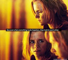 because when everything looks hopeless, they look to each other - Ron and Hermione <3
