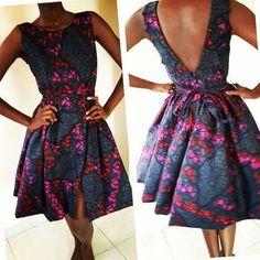 African Ankara Mahera Dress