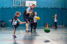 Girls play Rugbytots too. Gym Equipment, Basketball Court, Exercise, Play, Girls, Sports, Ejercicio, Toddler Girls, Hs Sports