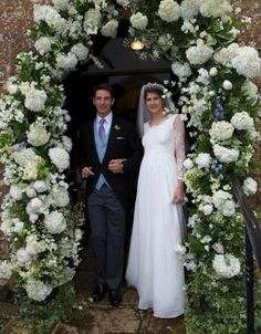 Wedding of Princess Florence Von Preussen and English Aristocrat James Tollemache on May 11, 2014 in Somerset, England at a traditional English church in the country side. The Princess is the great-great-granddaughter of Kaiser Wilhelm II, the last emperor of Germany and an heiress to the Guinness fortune (her grandmother was Lady Brigid Guinness). Her parents are Friedrich Nicolas Prinz von Preussen and Victoria Mancroft.