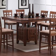 Mix And Match Storage Counter Height Table (Walnut) Coaster Furniture | Furniture Cart