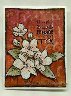 Créations A les trésors: Mon trésor avec bouquet fleuri