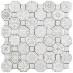 """Found it at AllModern - Edredon 12.25"""" x 12.25"""" Ceramic Field Tile in White"""