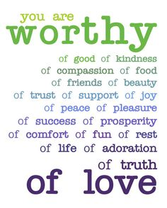 #WhatIsBeauty| You are worthy...