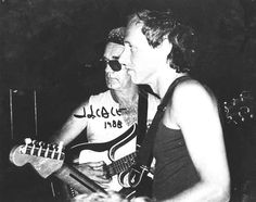 J.J. Cale (Tulsa) with Mark Knopfler of Dire Straits, 1988