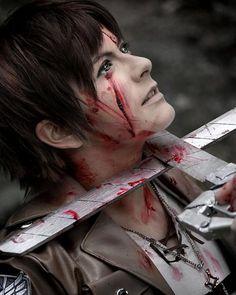 #anime #cosplay #swords #attackontitan #blood #fakeblood #shingekinokyojin…
