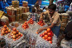 Busy market in Calcutta