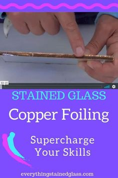 Copper Foil Stained Glass – What You Need To Know Stained Glass Copper Foiling tips and answers to common questions. Supercharge your copper foil skills for a better finish on your stained glass. Stained Glass Supplies, Stained Glass Paint, Stained Glass Ornaments, Making Stained Glass, Stained Glass Birds, Stained Glass Panels, Stained Glass Projects, Leaded Glass, Mosaic Glass