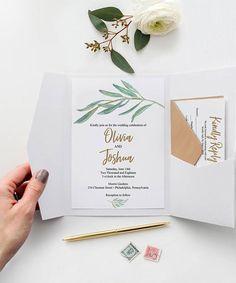 Wedding Invitation. Floral, Vine, Creative Union Designs