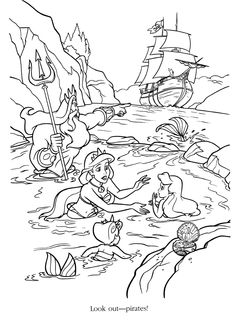 Coloriage La Petite Sirene Disney Coloring PagesColouring