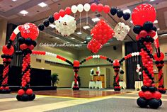 Casino prom casino prom theme pictures vegas theme, vegas party, ve Party Food Themes, Casino Party Decorations, Casino Theme Parties, Balloon Decorations, Balloon Ideas, Party Ideas, Themed Parties, Party Snacks, Table Decorations