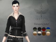 Sims 4 Updates: TSR - Clothing, Female : Enriqueta Jacket by Sentate, Custom Content Download!