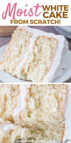 Cake Recipes From Scratch, Easy Cake Recipes, Dessert Recipes, Desserts, Easy White Cake Recipe, Best Ever White Cake Recipe, Eggless White Cake Recipe, Casada Cake Recipe, White Cake Recipes