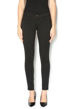 Comfortable black legging with lots of stretch. Front zip, belt loops faux front pockets and two real back pockets.   Black Legging by memoi. Clothing - Bottoms - Pants & Leggings - Leggings Buffalo, New York