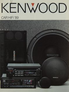 KENWOOD Kenwood Audio, Kenwood Car, Hifi Audio, Car Audio, Sound Wall, Car Sounds, Old School Cars, Old Ads, Audiophile