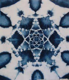 indigo blue pattern on textile