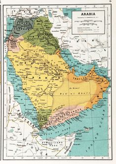 Situation September British Encyclopedia Atlas is from If you´re… Palestine Map, Geography Map, Lawrence Of Arabia, Wall Maps, City Maps, Antique Maps, Historical Maps, World History, Geology