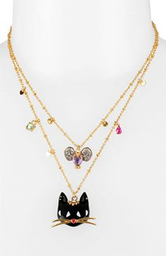 Betsey Johnson 'Morocco Adventure' Multistrand Necklace | Nordstrom I have the pendant and the earrings and the ring, soooo cute