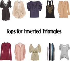 """""""Tops for Inverted Triangles"""" by kittyfantastica on Polyvore"""