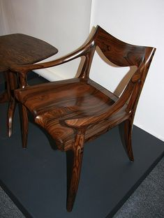 Lowback chair Zircote is part of Furniture - Sam Maloof furniture at the Craft in America Study Center My Furniture, Woodworking Furniture, Fine Woodworking, Handmade Furniture, Furniture Making, Furniture Design, Small Office Chair, Velvet Office Chair, Office Chairs