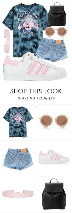 """Take me to Coachella☀️"" by jadenriley21 ❤ liked on Polyvore featuring House of Holland, Levi's, adidas, Humble Chic and MANGO"