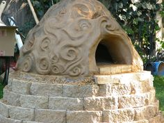 Mud + brick outdoor oven.. I'm Italian, it's 110% necessary to have this in the yard