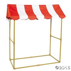 Fun for a food stand or game booth at your next carnival theme party! A great decoration for a school carnival or circus party, this big top tabletop tent ...