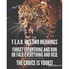 Fear Has Two Meanings – Quote©