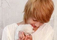 gentle youngmin with cute ass puppy! Jo Youngmin, Boyfriend Kpop, Gifs, Celebrities, Cute, Celebs, Kawaii, Famous People