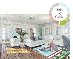 心に安らぎと癒しを与えてくれるグリーンインテリアのアイテムとしても欠かせない存在になっています。家具を選ぶように植物をセレクトお部屋の雰囲気に合わせて相性の良い植物たちを日比谷花壇が8つのコーディネートスタイルでご提案いたします。 Beach House Bedroom, Beach Room, Surf Style Decor, Key West Decor, Deco Surf, Living Room Decor, Living Spaces, Surf House, New Room