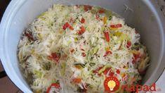 Kto skúsi túto čalamádu, už nebude robiť inú: Je pripravovaná za studena, bez sterilizácie a chutí fantasticky – zajtra môžete ochutnávať! Cabbage, Grains, Rice, Vegetables, Food, Essen, Cabbages, Vegetable Recipes, Meals