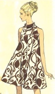 Vintage Tent Dress Vogue Pattern 7170 size 12 by SewReallyCute Moda Vintage, Vintage Vogue, Moda Retro, Sixties Fashion, Mod Fashion, Vintage Fashion, Vintage Outfits, Vintage Dresses, Patron Vintage